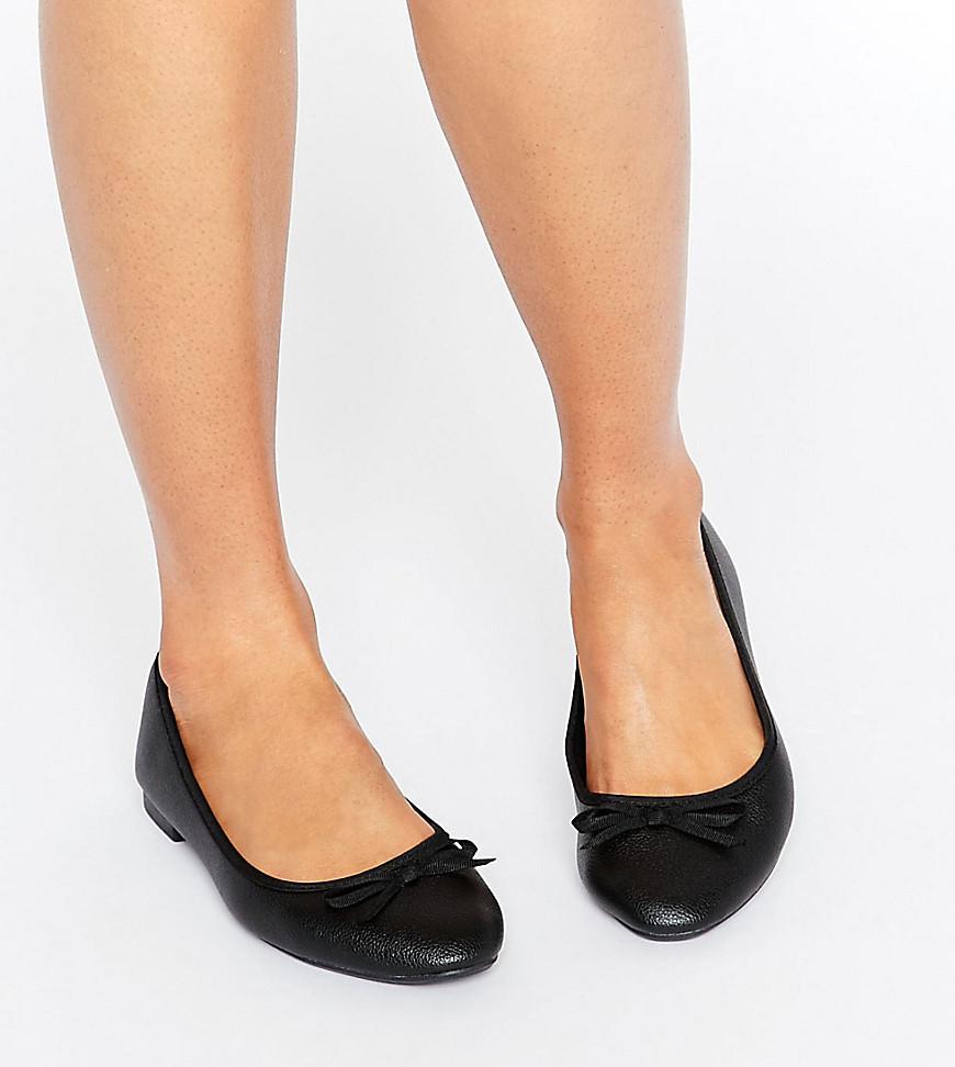 Leather Look Ballet Pump - Black New Look soCEb8