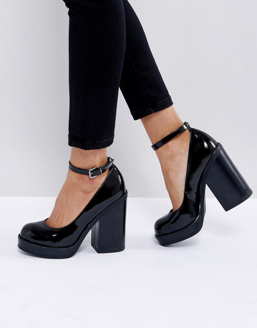 Lyst - Asos Outage Chunky Heels in Black