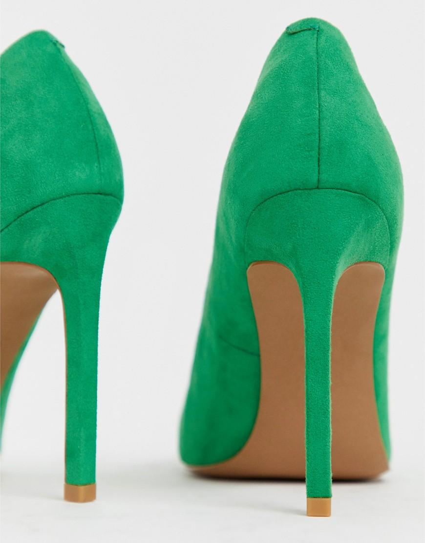 84bdde9b5bd Lyst - ASOS Porto Pointed High Heeled Pumps In Emerald Green in Green