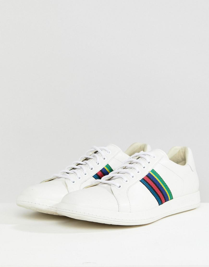 PS by Paul Smith Lapin Leather Trainer in White for Men