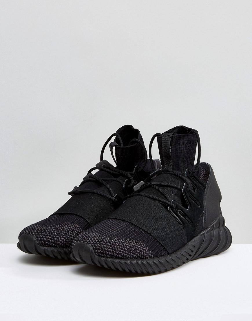 wholesale dealer df376 cf756 ireland adidas originals tubular doom trainers in svart ...