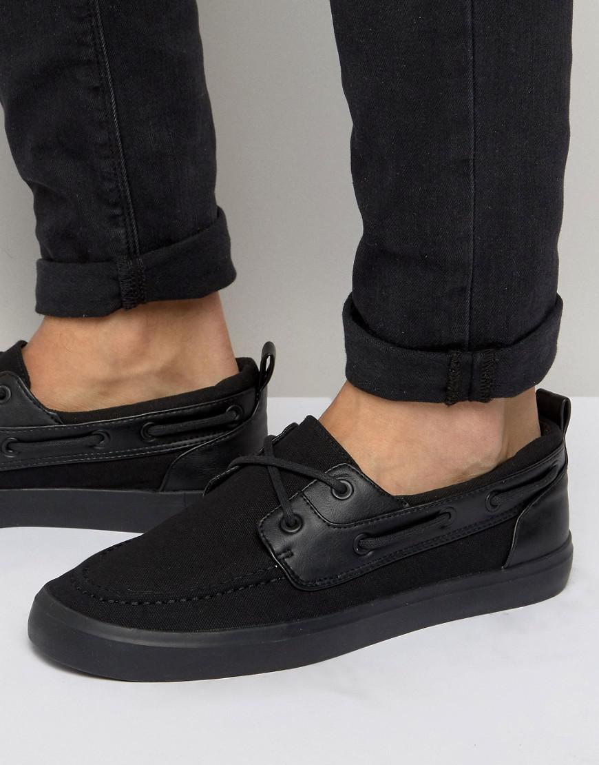 ASOS. Men's Boat Shoes In Black