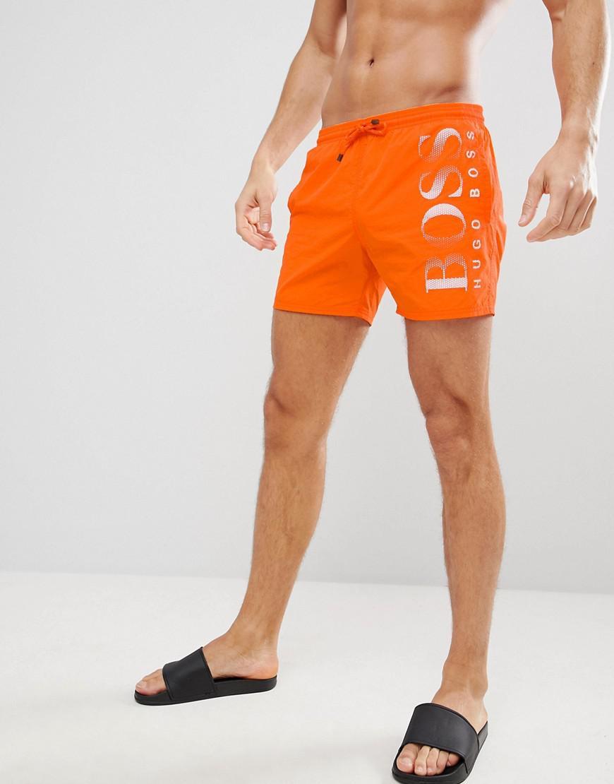 c3e229bcb Lyst - BOSS Octopus Swim Shorts in Orange for Men