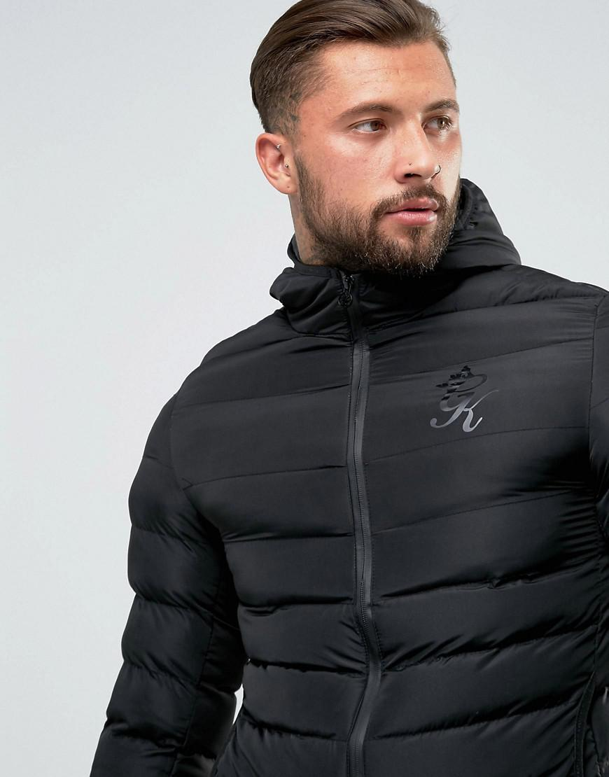 0cbd0b9a7 Gym King Puffer Jacket In Black With Hood for men