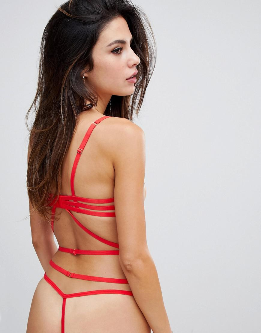 25778148302 Bluebella Nikita Strappy Underwire Body In Red in Red - Lyst