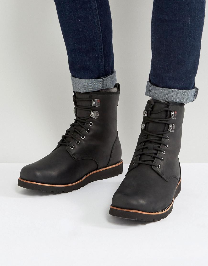 e9822849072 Ugg Black Hannen Treadlite Waterproof Leather Boots for men