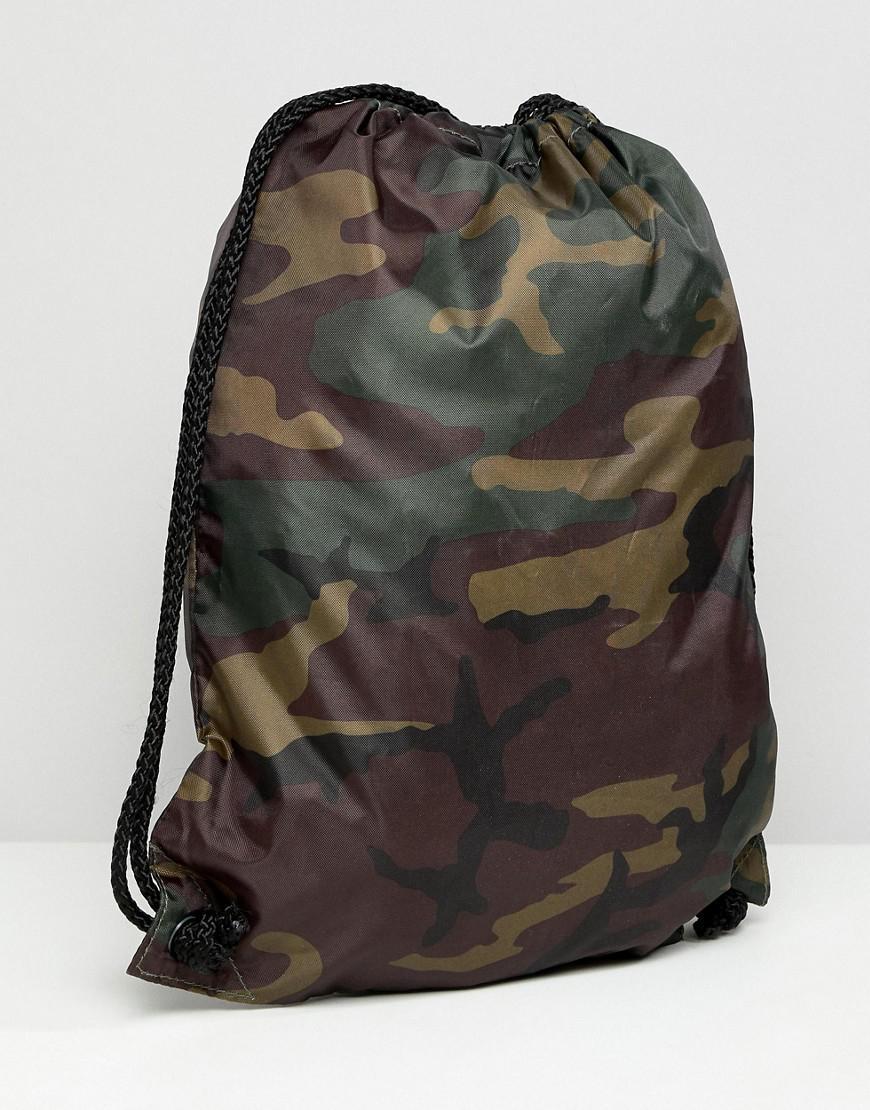 De Camouflage Serrage Motif Avec Cordon Logo Lyst Et Sac pqzSUVM