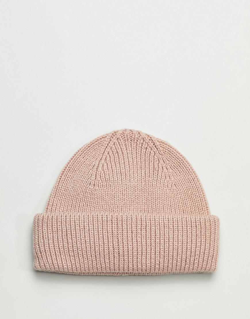 Lyst - ASOS 2 Pack Mini Fisherman Beanie In White   Pink Recycled Polyester  Save in White for Men 38b817da4721