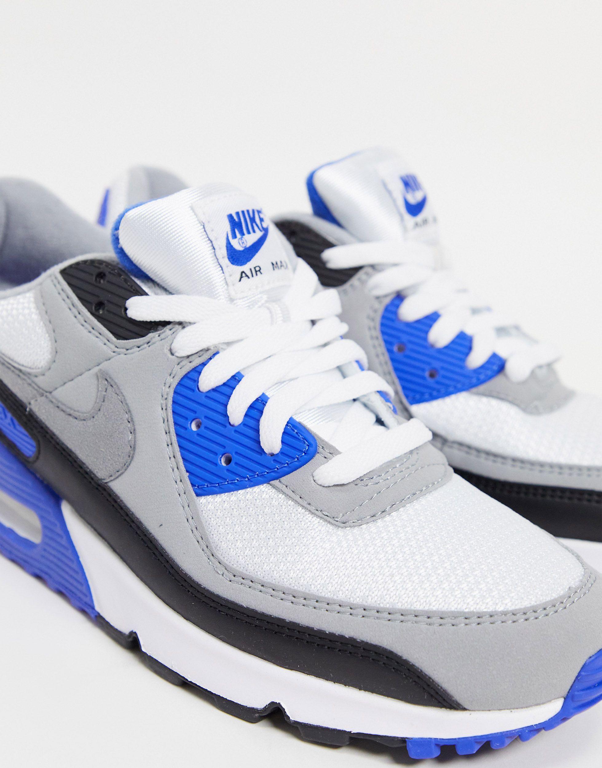 air max 90 blu bianche