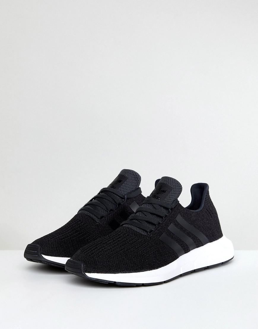 20ffffb2f Lyst - adidas Originals Swift Run Trainers In Black Cq2114 in Black ...