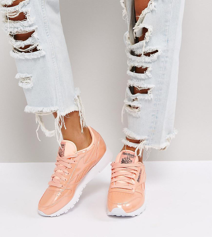 Reebok Classic Patent Pearl Leather Trainers In Pink in Pink - Lyst 7e3199c44