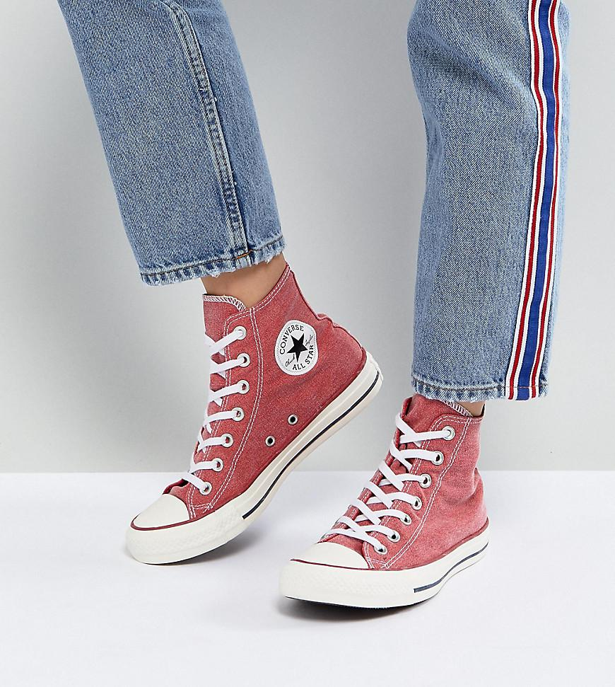 browse cheap price discounts online Converse Chuck Taylor All Star Hi Trainers In Stonewashed Red outlet discount sale UOw3lTWKc