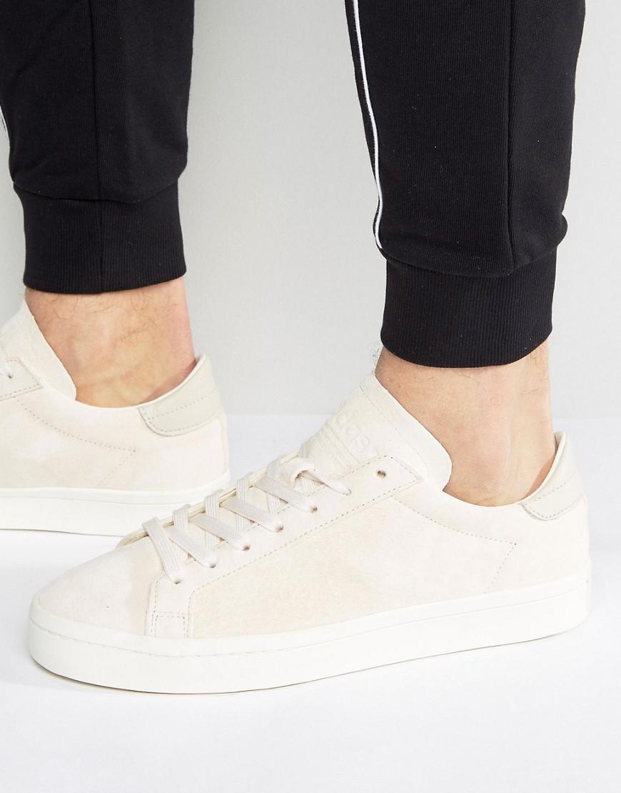 lyst adidas originali corte vantage scarpe marroni bb0128 in