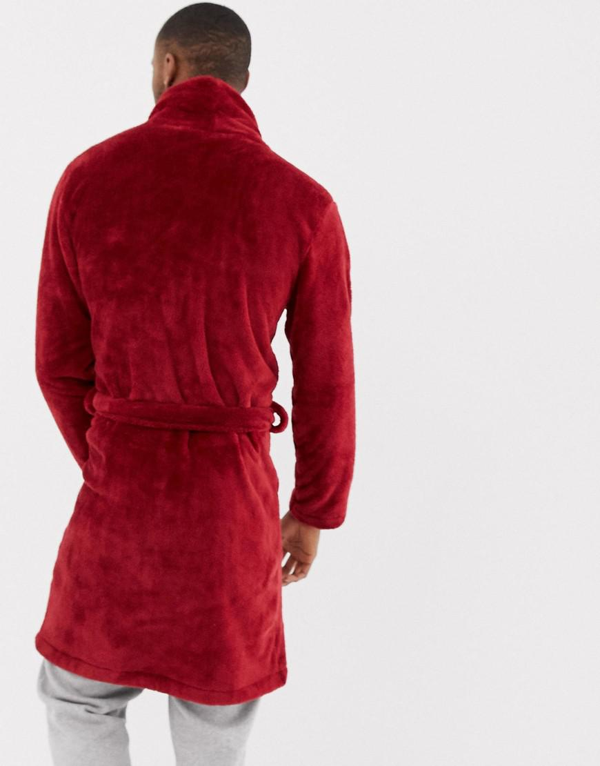 Lyst - ASOS Fluffy Robe In Red in Red for Men cd83d60f2