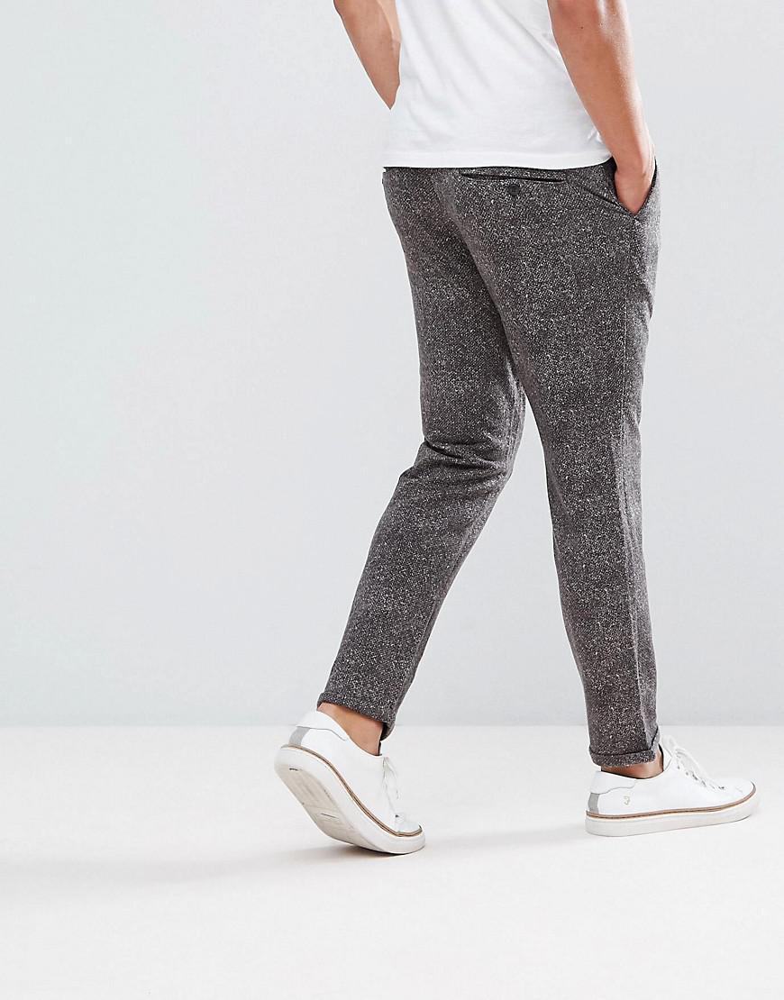 Jack & Jones Denim Intelligence Smart Printed Trouser in Grey (Grey) for Men