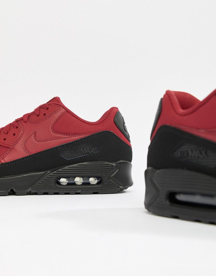 ec20aa28ca8 Nike Air Max 90 Essential Sneakers In Red Aj1285-010 in White for Men - Lyst