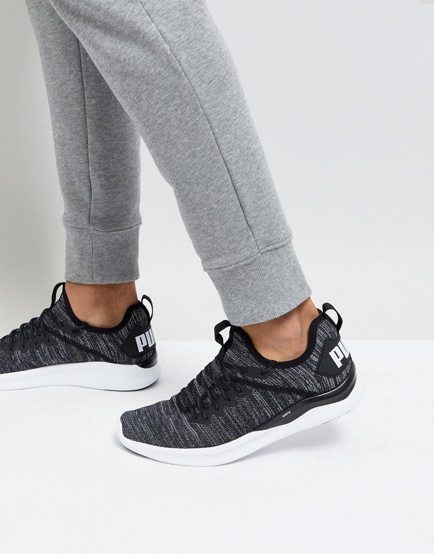 Puma Ignite Flash Evo Knit Trainers In Black 19050802 purchase online clearance comfortable pay with paypal sale online L4e2EK