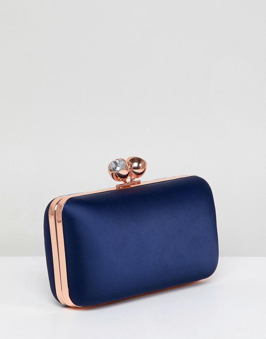 ac4ec50279077c Ted Baker Crystal Bobble Clutch Bag in Blue - Lyst