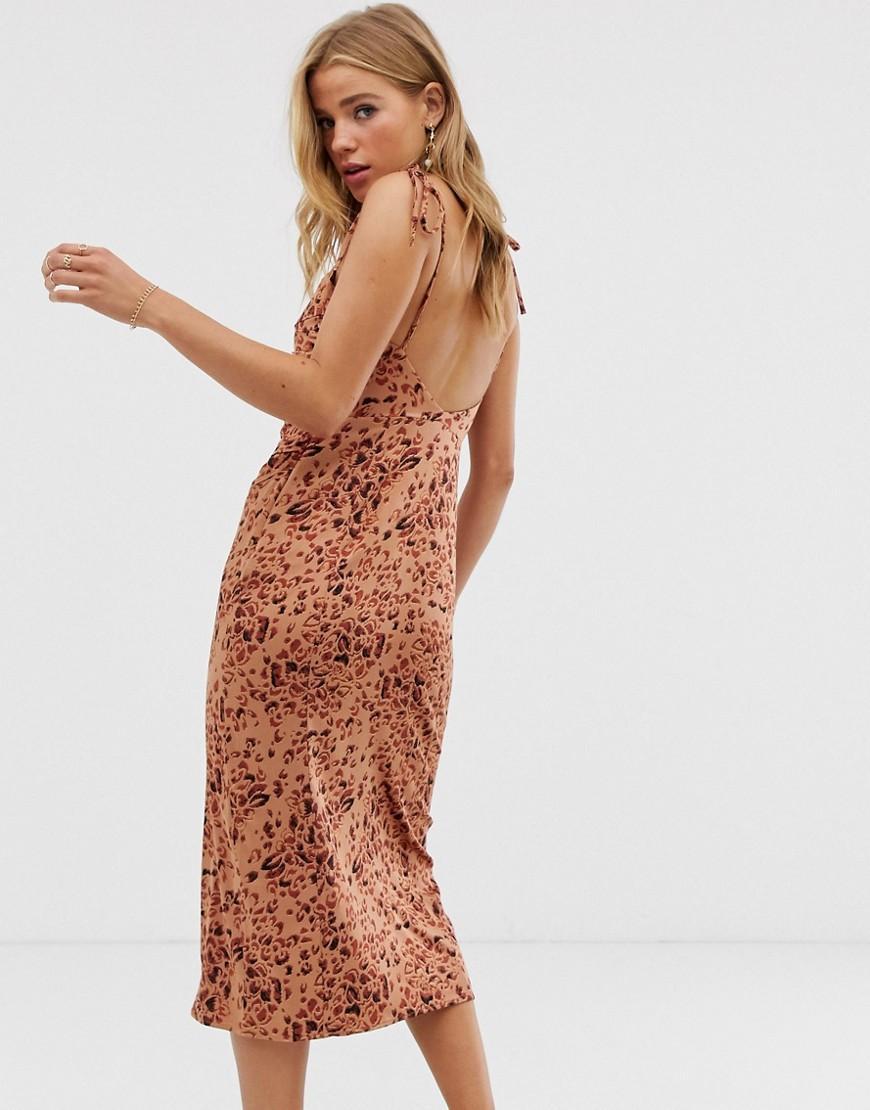 58595377be01 Free People Show Stopper Mini Bodycon Dress In Leopard in Brown - Lyst