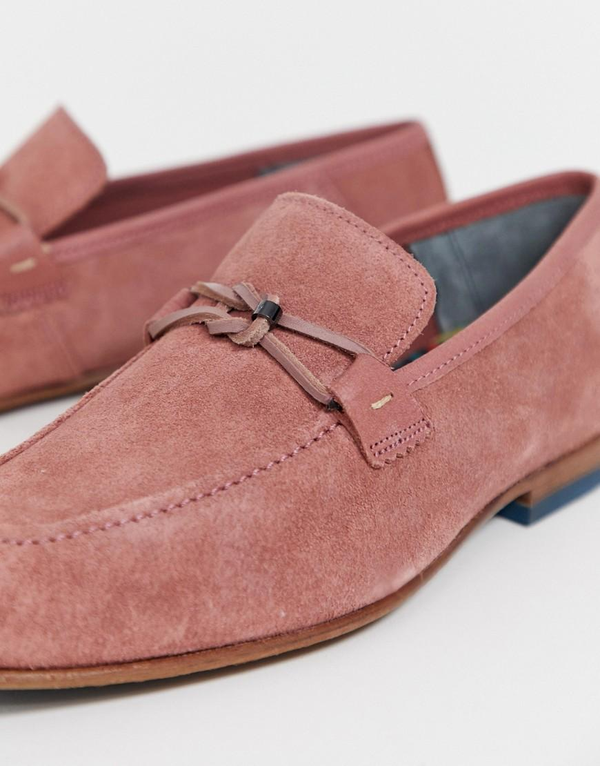 Ted Baker Suede Siblac Loafers in Pink