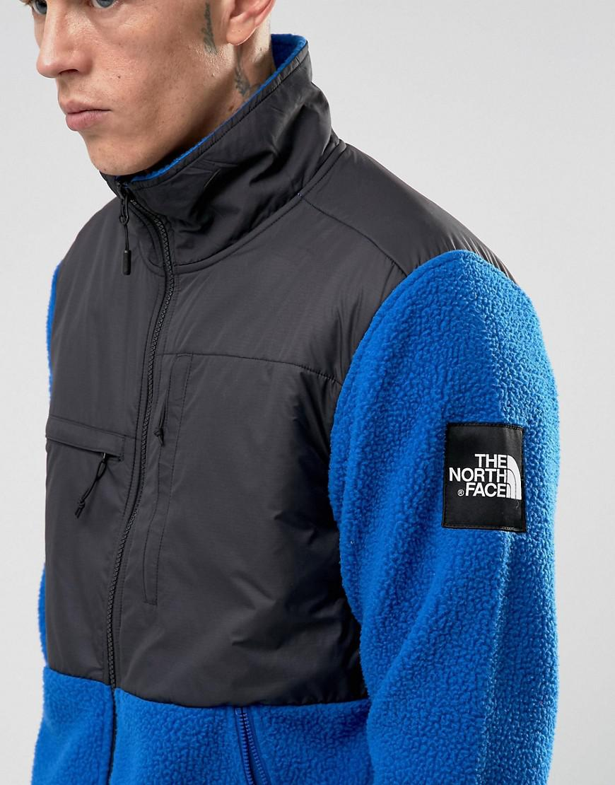 4aa9be898 The North Face Denali Fleece Jacket Mixed Fabric In Blue/black for men