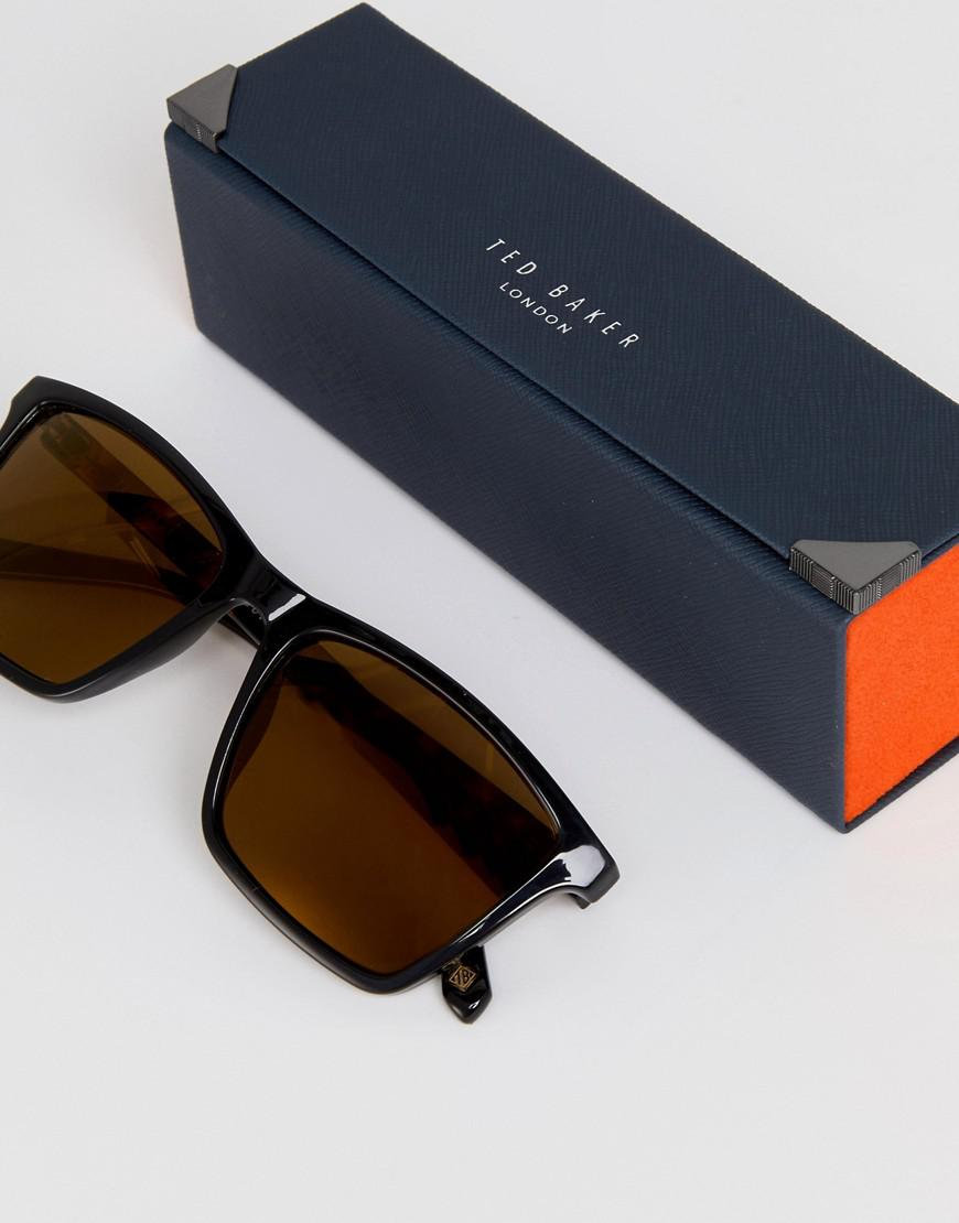 22474207dd3 Ted Baker Tb1456 012 Wade Square Sunglasses In Black in Black for ...
