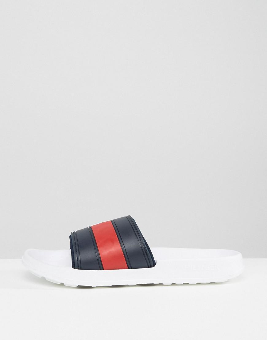 f706ba002efd Tommy Hilfiger Splash Sliders in White for Men - Lyst