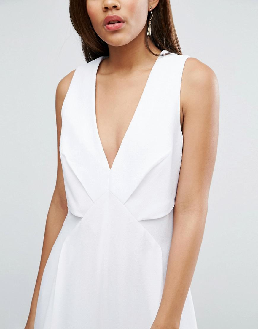 lyst asos jumpsuit with origami detail and culotte leg