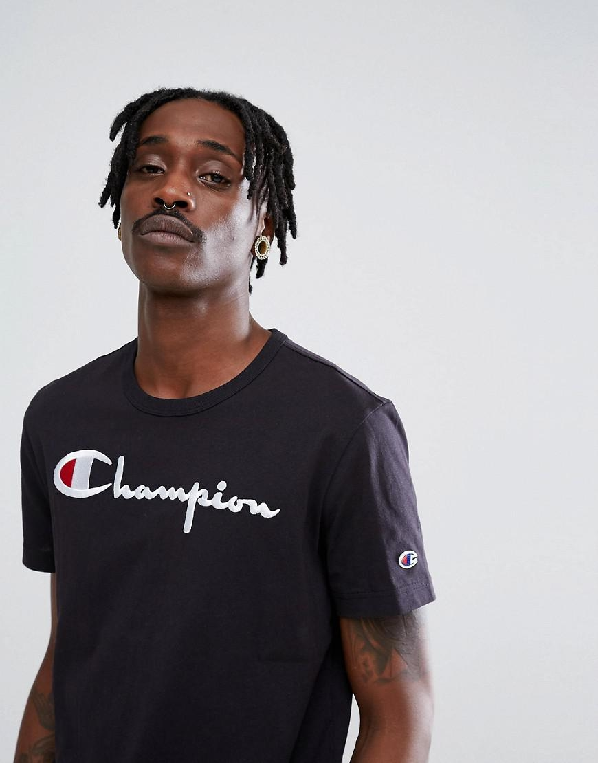 best authentic store new release T-shirt With Large Logo In Black
