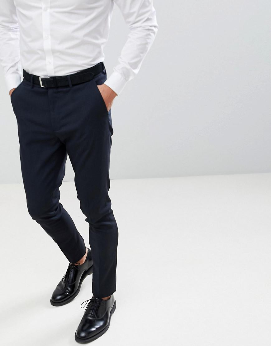 8641825ff016 New Look - Blue Skinny Suit Trousers In Navy for Men - Lyst. View fullscreen