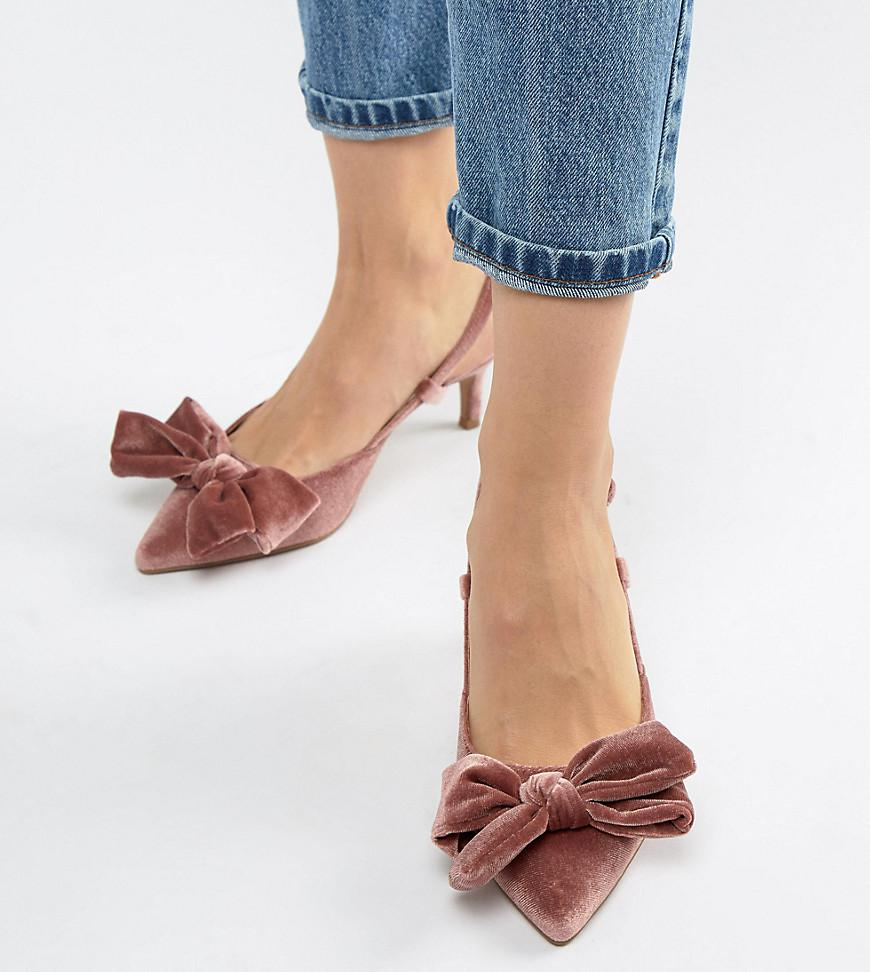 low price get online online here Wide Fit Sherry Bow Kitten Heels