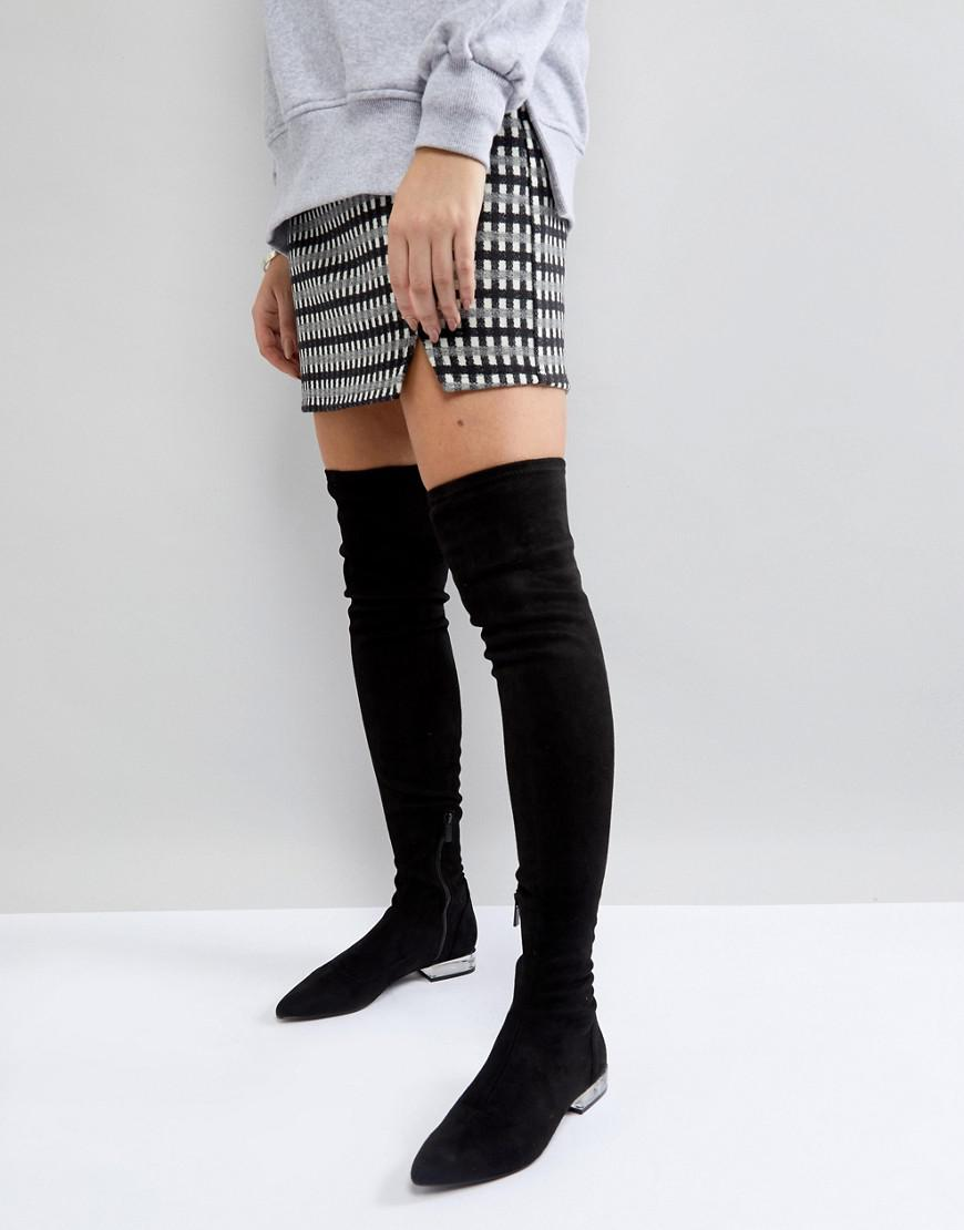 Stradivarius Clear Heel Over The Knee Boot IpYkiZI