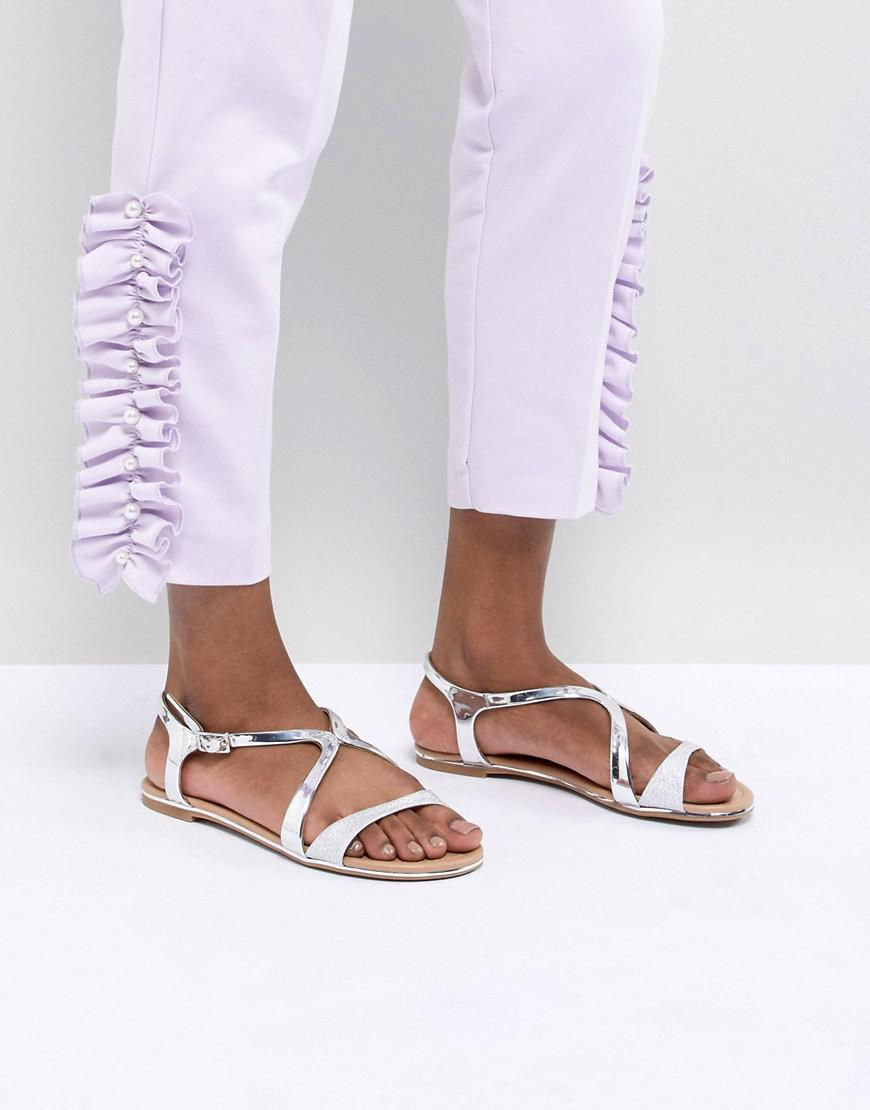 11eabed1c00 Call It Spring Silver Flat Sandals in Metallic - Lyst