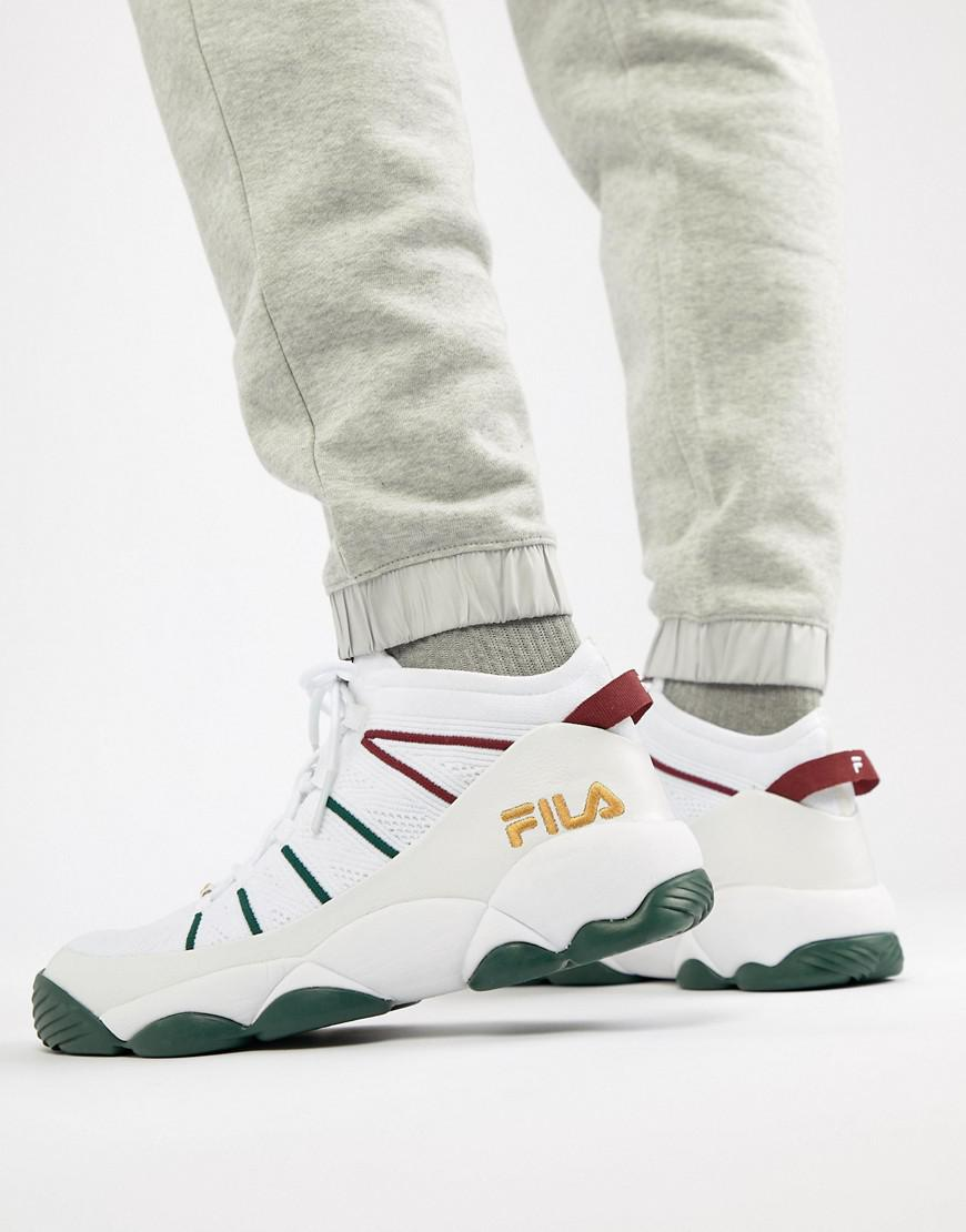 Fila Spaghetti Knit Mid Sneaker In White for Men - Lyst