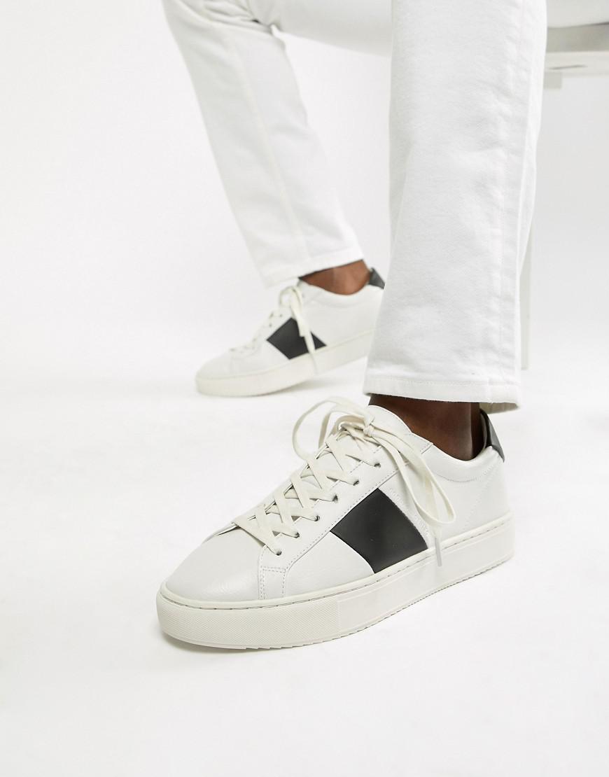 White With Black Stripe for Men - Lyst