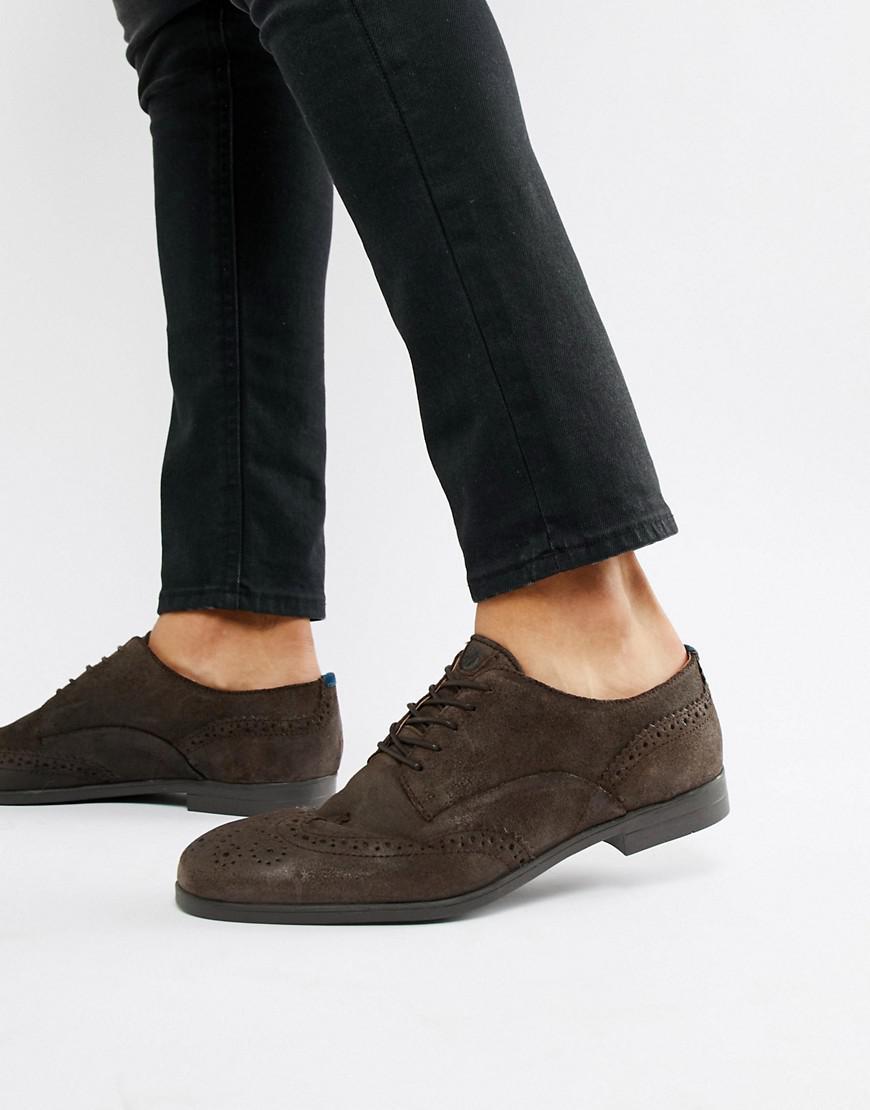 Zapatos Oxford de ante marrón Aylesbury H by Hudson de hombre de color Marrón