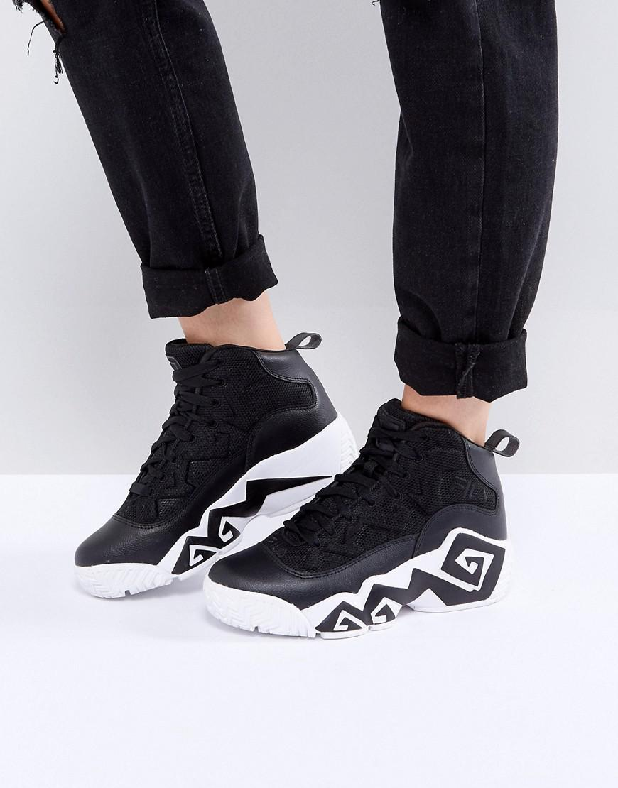 Fila Mb Mesh High Top Trainers In Black for men