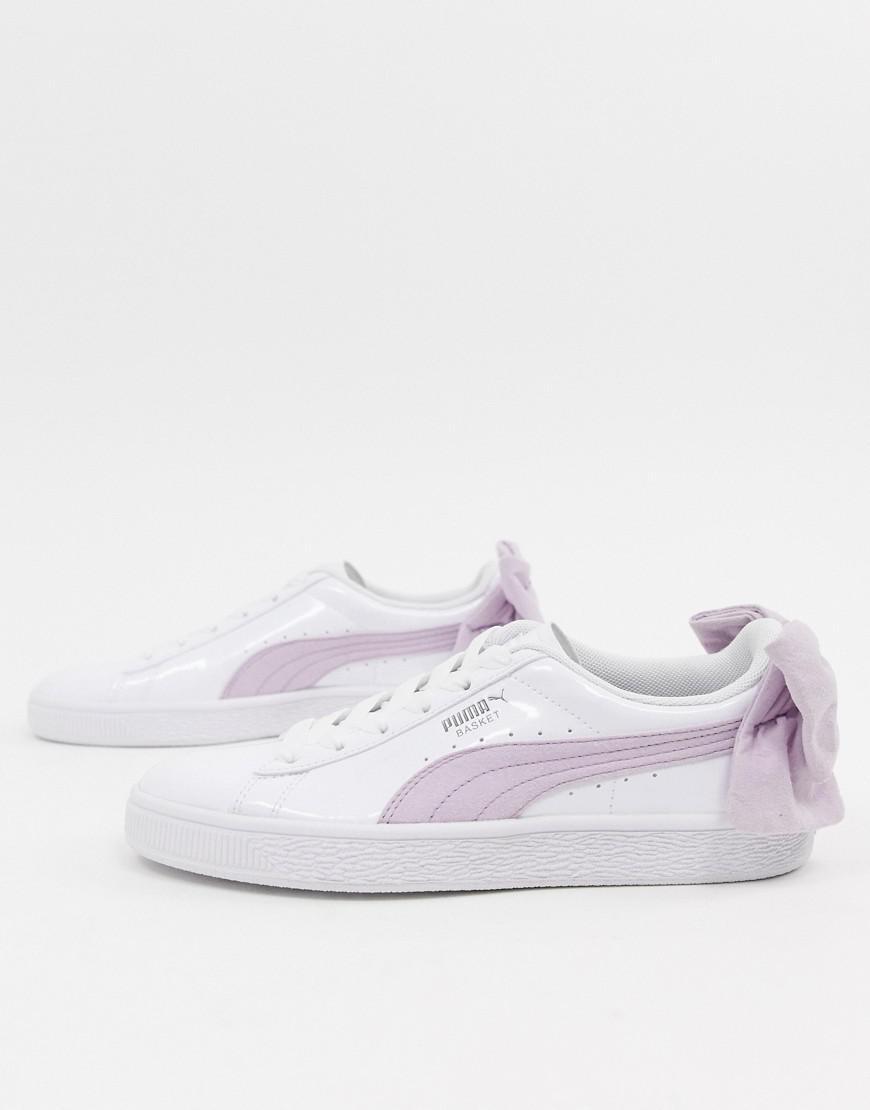puma bow trainers pink 8948c8
