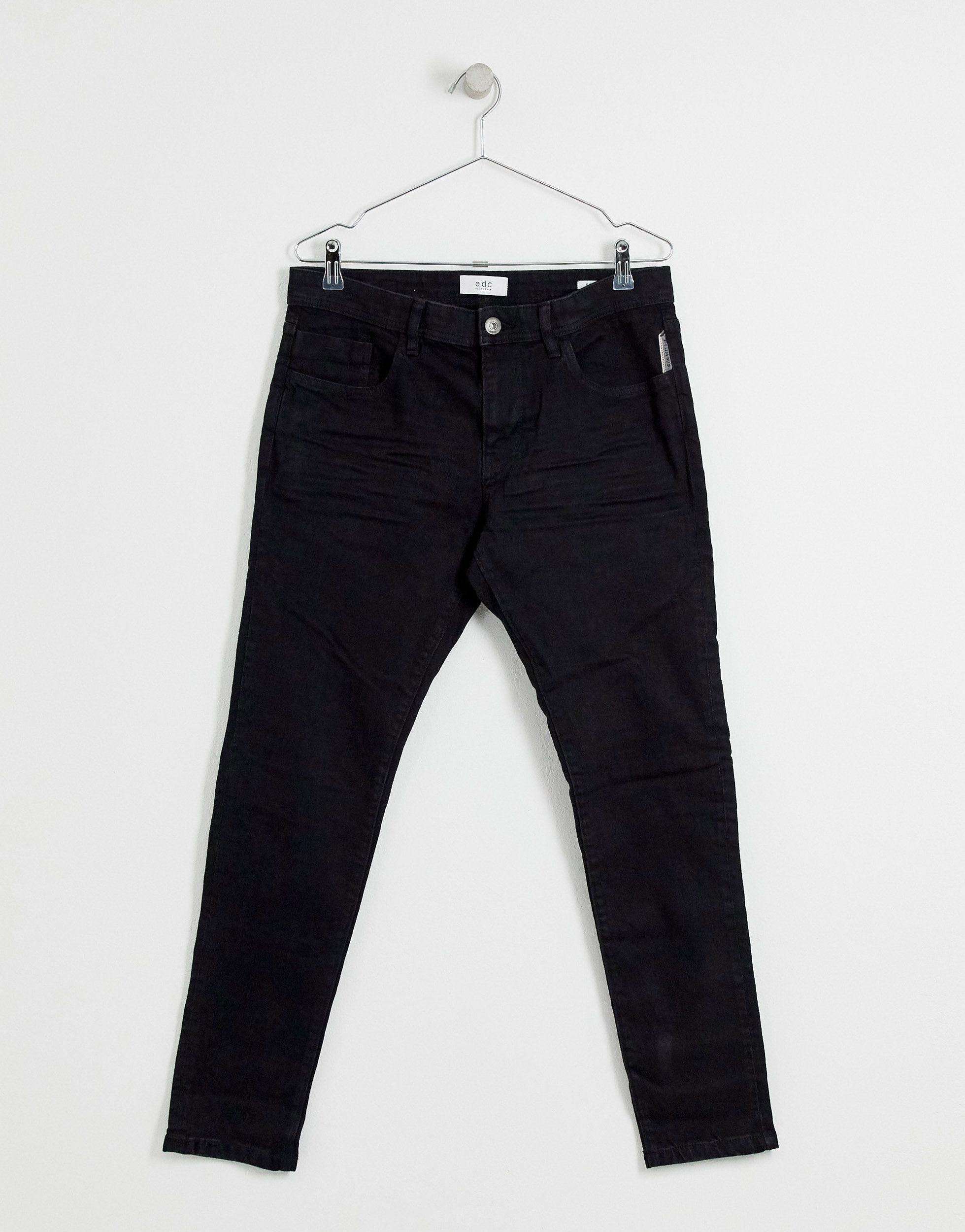 Esprit Denim Skinny-fit Jeans in het Zwart voor heren