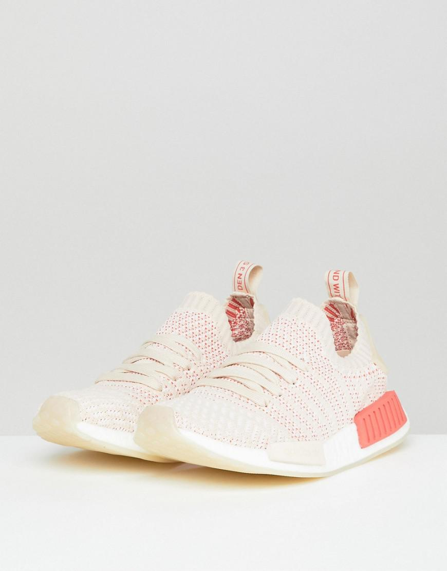 af6a260d7c47 adidas Originals Nmd R1 Stealth Primeknit Trainers In Off White in White -  Lyst