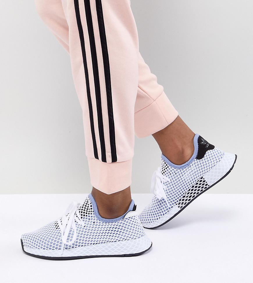 new products 4f907 5e18f adidas Originals Deerupt Runner Trainers In Blue in Black - Lyst