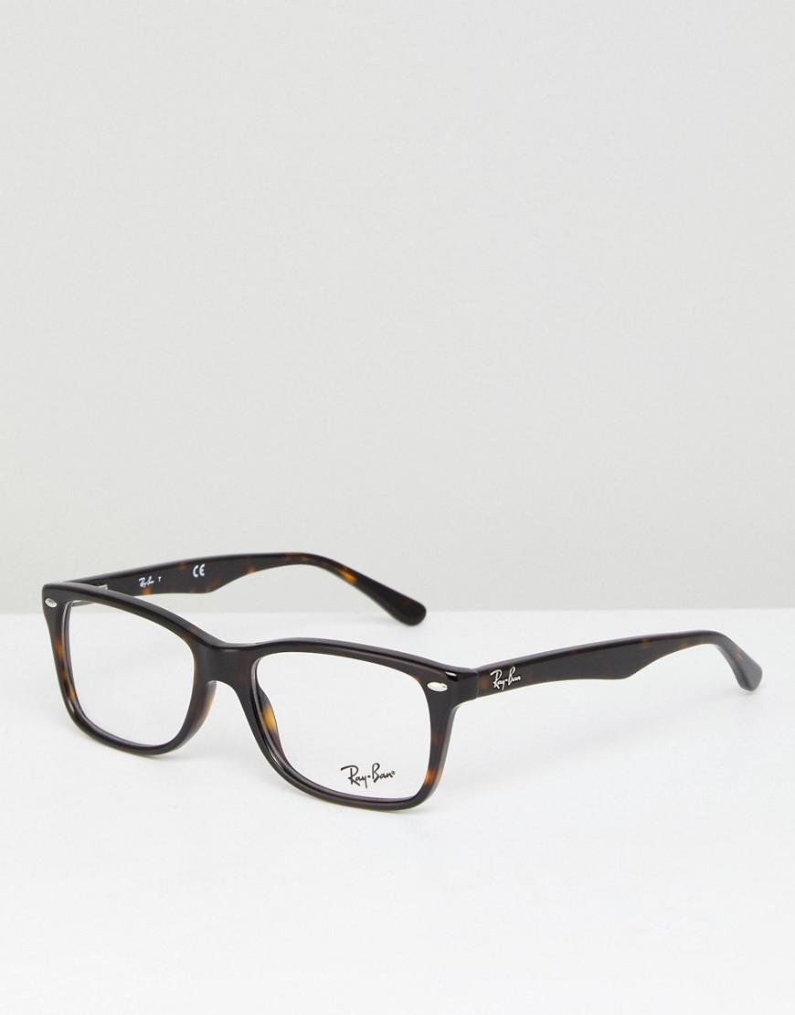615b07474be4 italy ray ban wayfarer glasses clear lens 55aa8 4db7a; promo code for ray  ban 0rx5228 wayfarer optical frames with demo lenses in tortoise 8914f b0d90