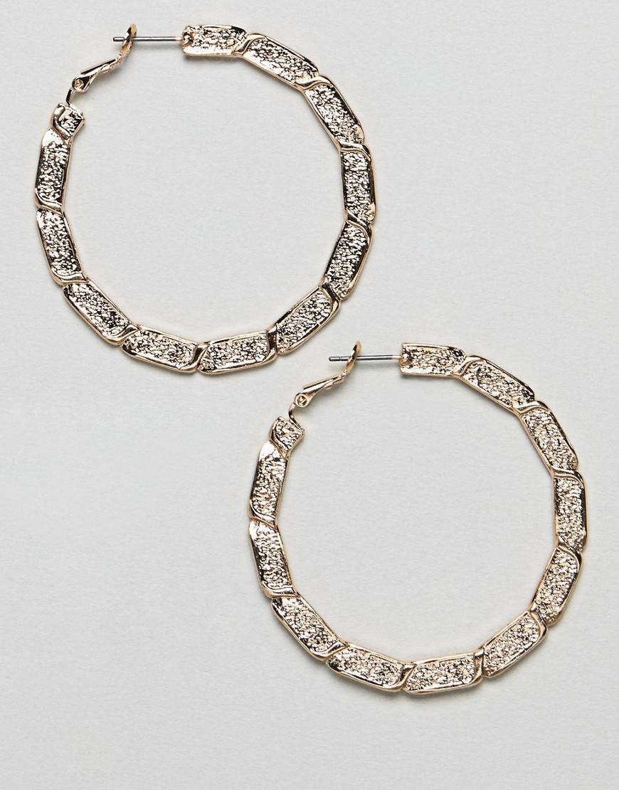 Asos Women S Metallic Hoop Earrings With Vintage