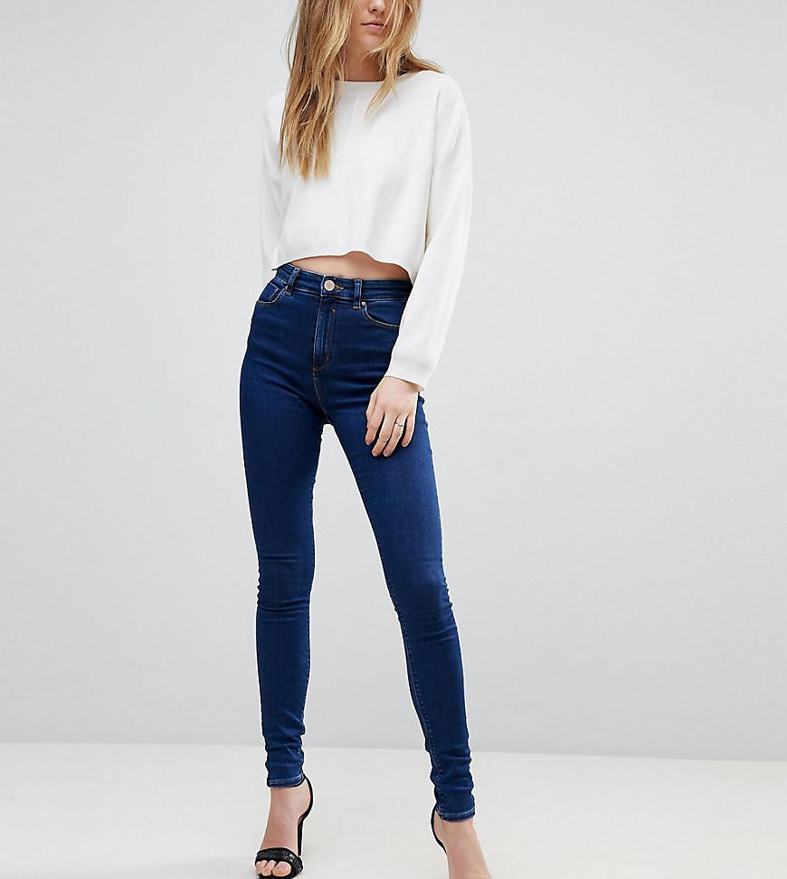 ASOS DESIGN Tall Ridley high waist skinny jeans in aged blue wash - Mid wash blue Asos Tall Wholesale Price Sale Online Buy Cheap Best Seller Buy Cheap 2018 Unisex Low Cost Cheap Price ESIkAu