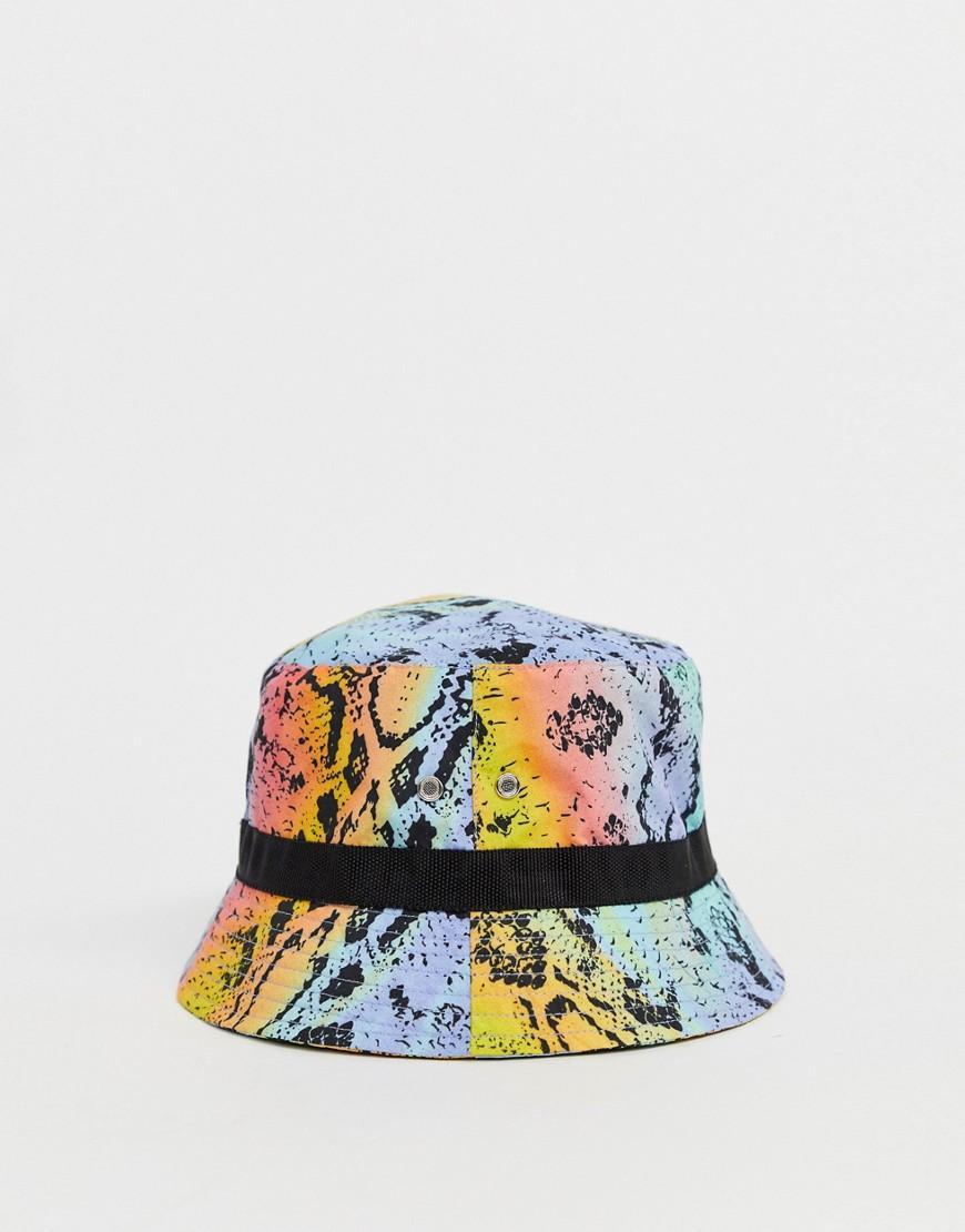 2977ccaf ASOS Purple X Glaad& Unisex Python Print Bucket Hat for men