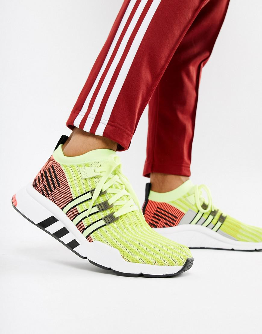 Eqt Support Mid Adv Trainers In Green B37436