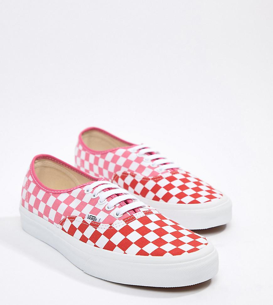e10996508e7 Vans Authentic Checkerboard Plimsolls In Pink Exclusive At Asos in ...