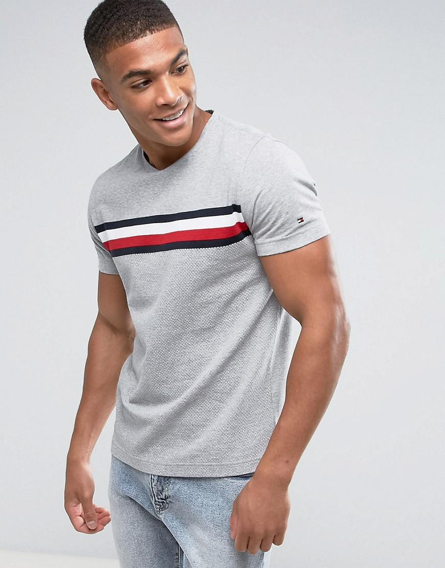 d0920e34161d Tommy Hilfiger Lester T-shirt With Large Chest Stripe in Gray for ...