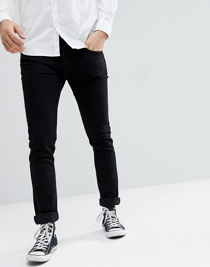 482bb78b Lyst - Lee Jeans Jeans Luke Slim Tapered Jeans In Black Rinse in ...