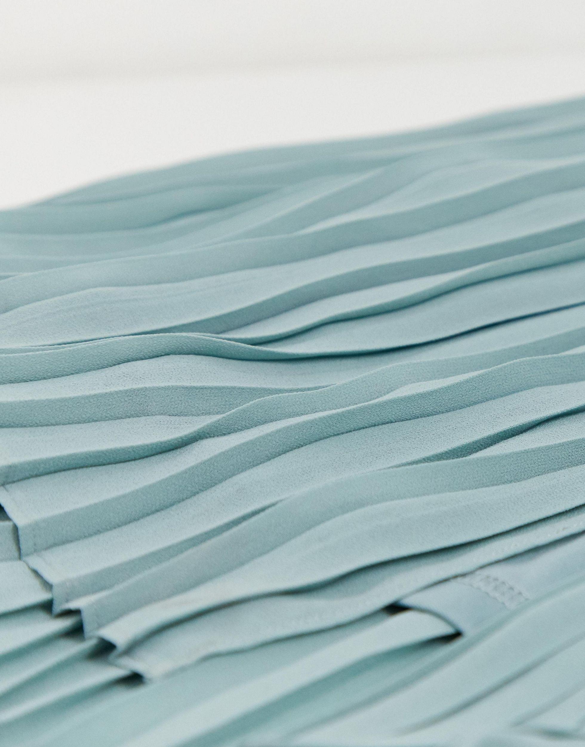 Robe longue plissée Synthétique TFNC London en coloris Vert